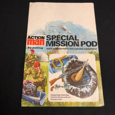 VINTAGE ACTION MAN - POINT OF SALE  - SPECIAL MISSION POD  DISPLAY CARD